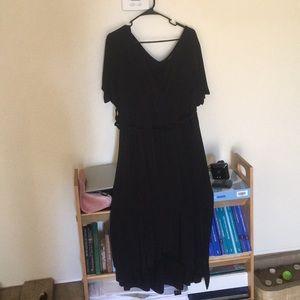 Torrid Black V-neck and back dress